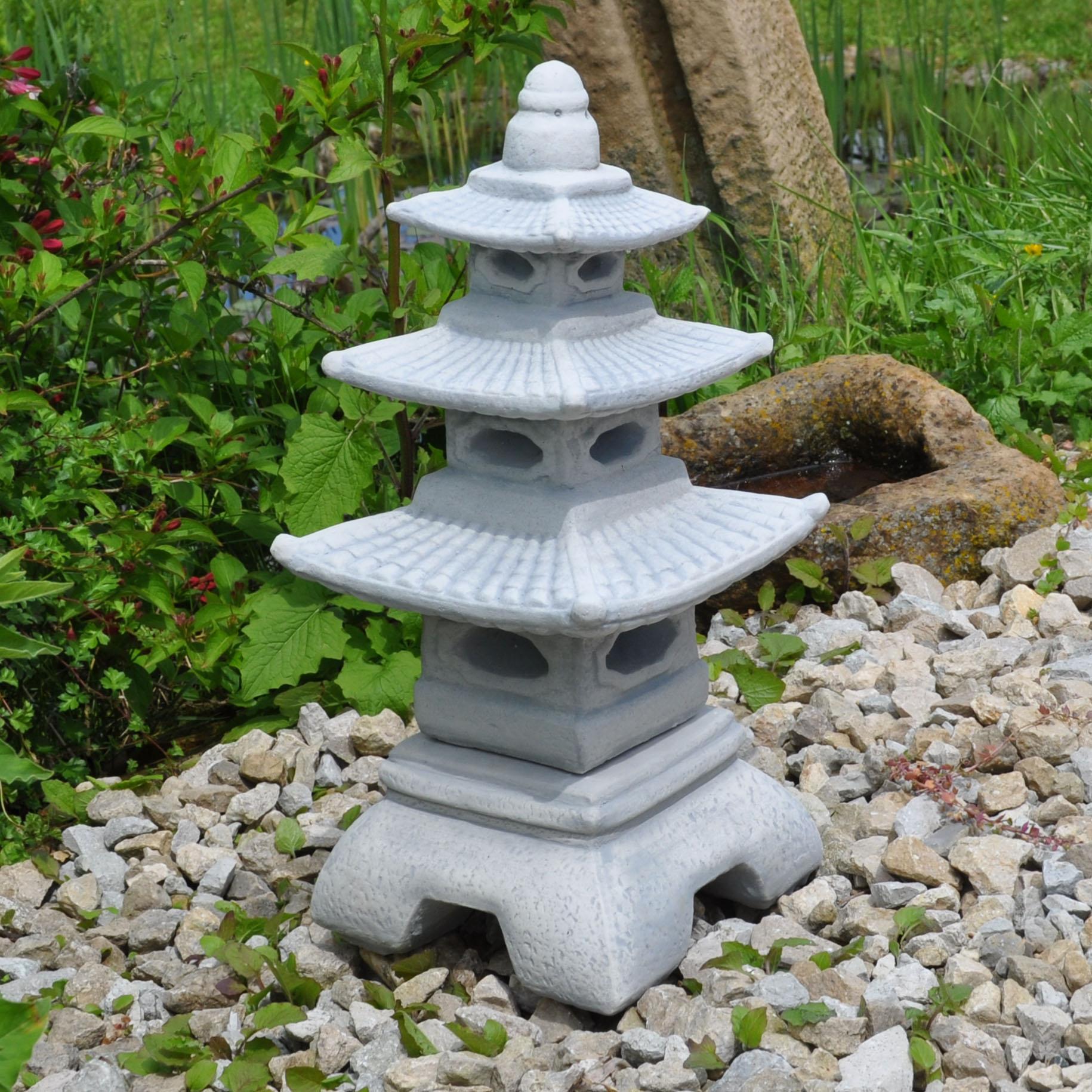 Japanische laterne pagode steinlaterne yukimi gartenlampe for Japanische gartenfiguren