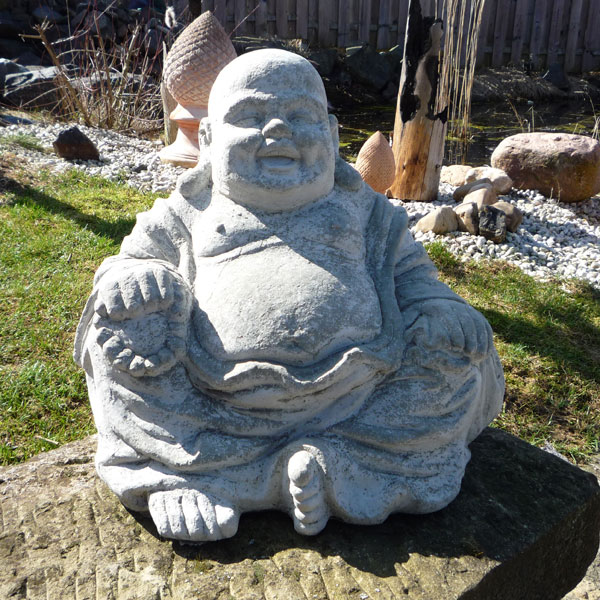 buddha steinfigur gartenfigur gartendeko 55 kg garten ebay. Black Bedroom Furniture Sets. Home Design Ideas