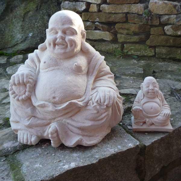 buddha mit dickem bauch frostfest steinfigur feng shui ebay. Black Bedroom Furniture Sets. Home Design Ideas